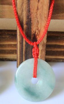 Аутентичные Природный бирманский камень кулон резной пончик ожерелье обувь для мужчин и женщин ювелирные изделия для детей нефриты ювелир...