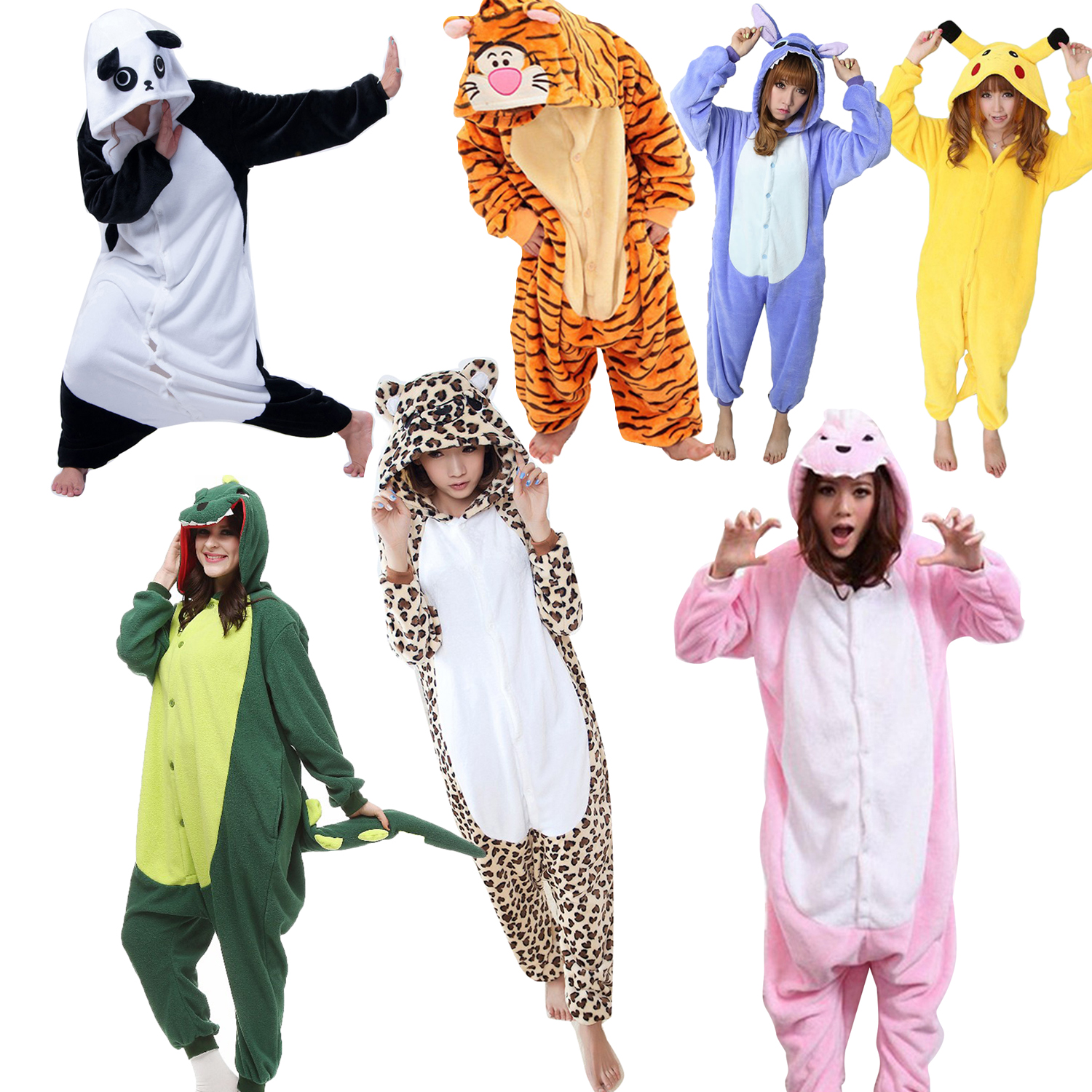 07fa1a5b9c26 Winter Adults Pajama Sets Cute Halloween Women Sleepwear Warm Cosplay  Animals Onesies Women Pajamas Cartoon Girls ...