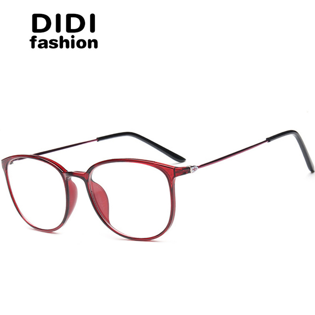 e73a692686 DIDI Titanium Glasses Leopard Thin Frame Women Men Clear Eyeglasses Optical  Prescription Frames Ultra Light TR90