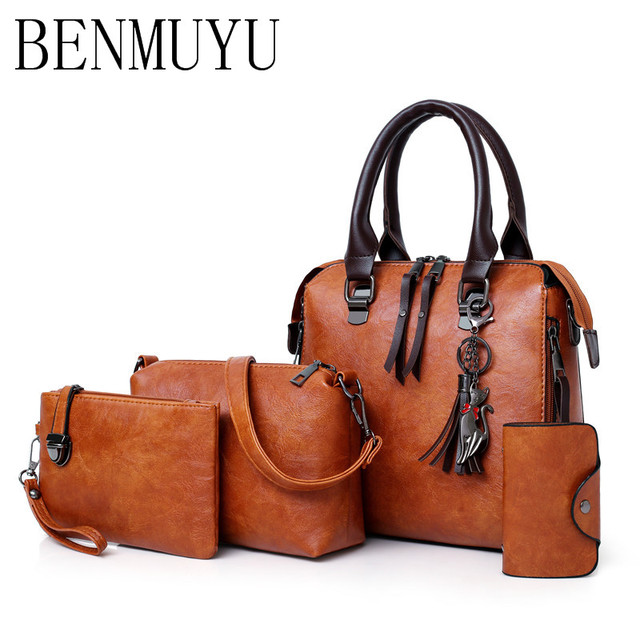d125a5703da BENMUYU,Free shipping, 4 Pcs,women's bags,New handbag of 2018 Cat ...