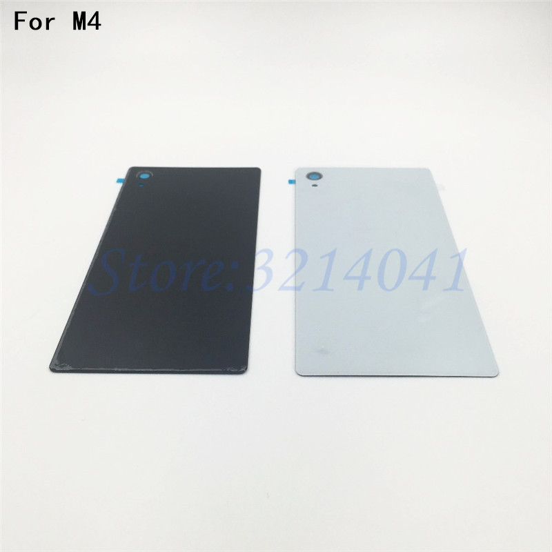 Battery Back Cover For Sony Xperia M4 M4 Aqua E2303 E2333 E2353 Back Glass Battery Door Housing Rear Back Cover With NFC