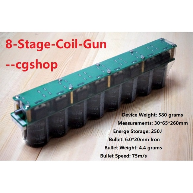 US $141 47 |8 level stage electromagnetic gun multi stage electromagnetic  gun DIY finished product CG66 (8mm stell ball version)-in Integrated