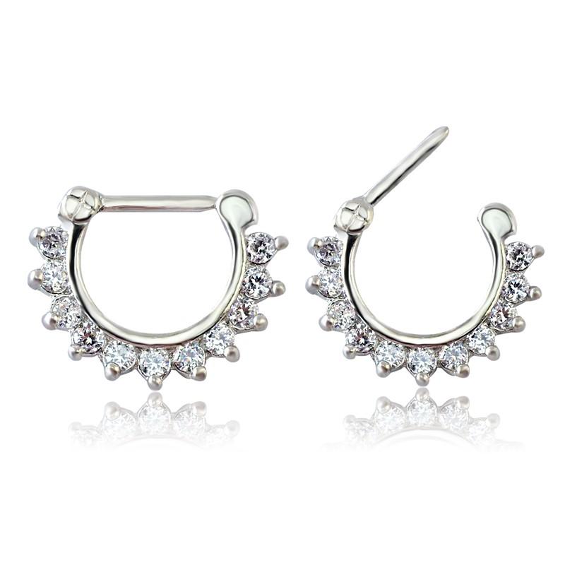 Прозрачные циркониевые Украшения для тела модные кольца носа