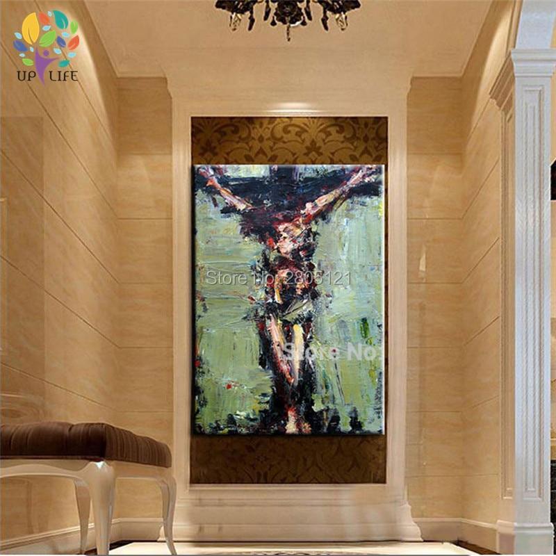 tangan dicat dinding lukisan Krismas lukisan minyak Jesus Hari Paskah - Hiasan rumah - Foto 6