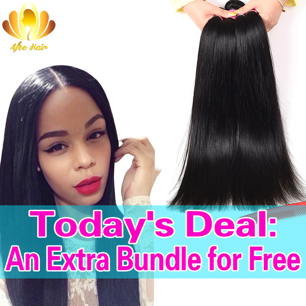 8A Unprocessed Brazilian Virgin Hair Straight Mink Brazilian Hair Weave 4 Bundles, Straight Brazilian virgin Human Hair Weave