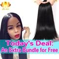 8A Unprocessed Brazilian Virgin Hair Straight Mink Brazilian Hair Weave 4 Bundles,Straight Brazilian virgin Human Hair Weave