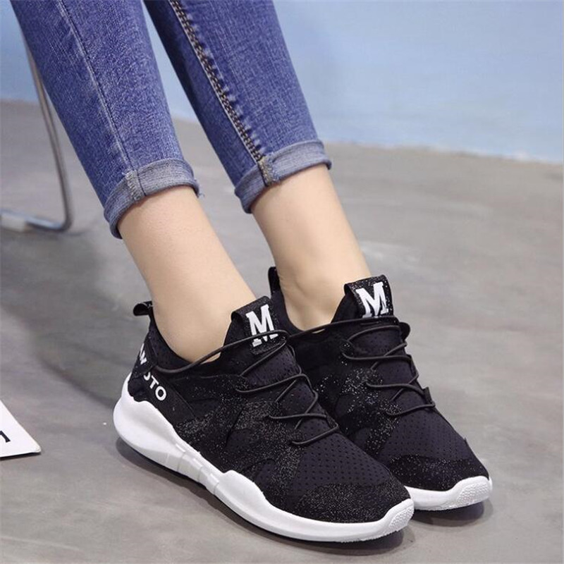 ELGEER 2019 Spring New Women Casual Shoes Fashion Women Shoes Shallow Wild Breathable Mesh Lace-Up Flying weaving SneakersELGEER 2019 Spring New Women Casual Shoes Fashion Women Shoes Shallow Wild Breathable Mesh Lace-Up Flying weaving Sneakers