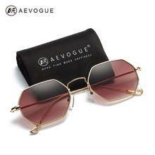 AEVOGUE Sunglasses For Men/Women Small Rectangle Alloy Frame Summer Style Brand Designer Unisex Sun Glasses AE0520