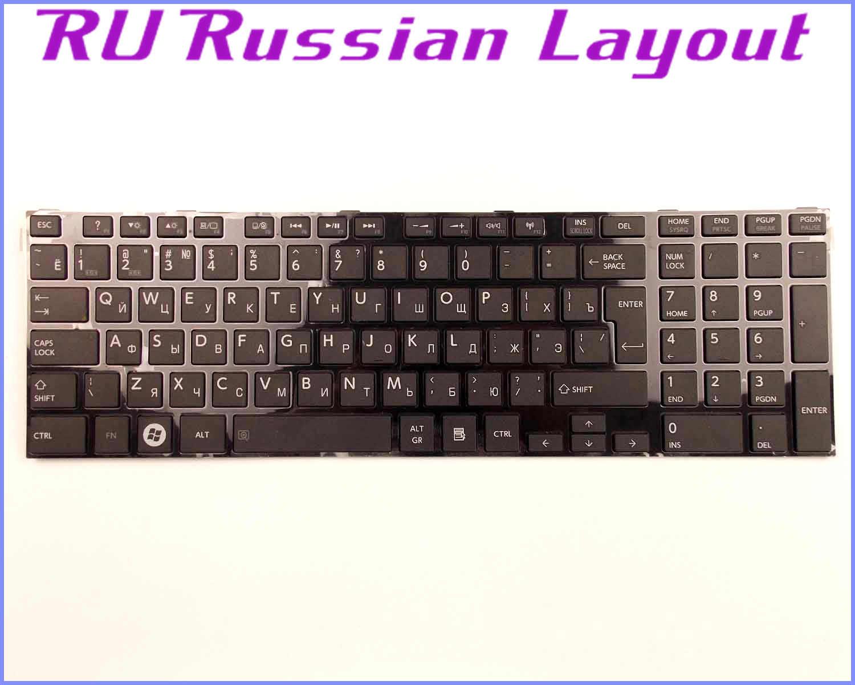แป้นพิมพ์RUเค้าโครงรัสเซียสำหรับโตชิบาPSC8AU V000270340 PSCA2U-001001 9Z. N7USV. A01 MP-11B53US-930W MP-11B93US-528แล็ปท็อป