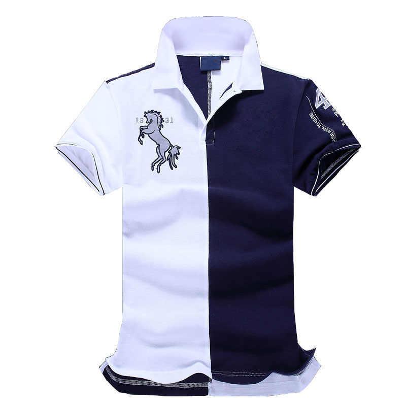 Nowy top dobrej jakości hafty mężczyźni mężczyźni marka-odzież koszulki polo marka moda męska koszulka polo odzież camisa polo camisa