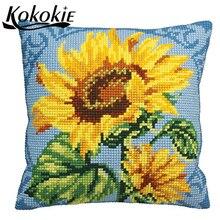 handmade pillowcase flower diy cross stitch kits knitting