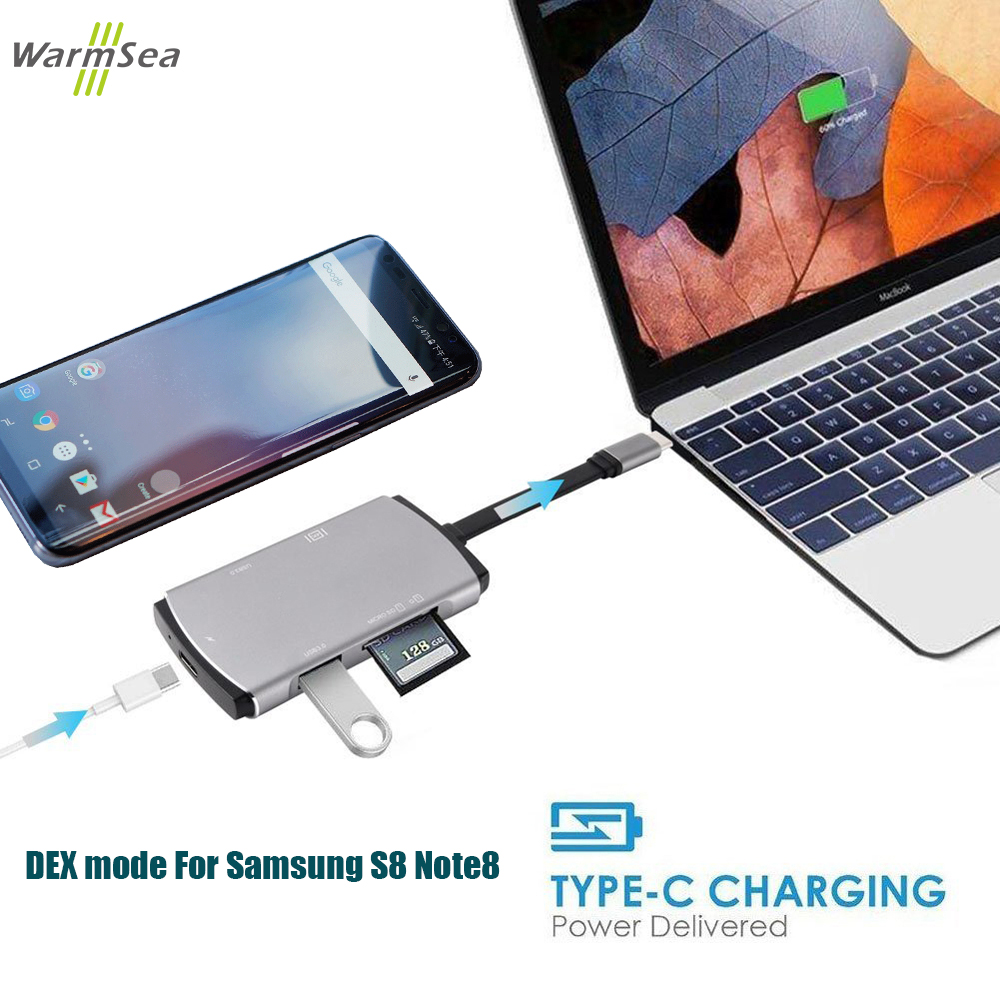 USB Type C HUB Thunderbolt 3 Adapter Dex Station Pad for Macbook Pro Samsung Galaxy Note 8 S8 S9 S8+ S9+ Nitnend Switch P10 usb 3 0 type c to hdmi adapter and charging converter for nintend switch macbook pro samsung galaxy s9 s8 note 8 imac