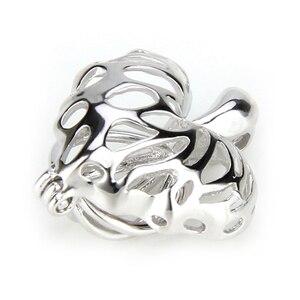 Image 2 - CLUCI 3 sztuk liście klonu serce srebro 925 wisiorek dla kobiet naszyjnik biżuteria 925 perła z polerowanego srebra wisiorek klatka SC076SB