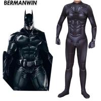 New Movie Batman DarKnight Cosplay Costume Bruce Wayne Superhero Zentai Bodysuit Suit Jumpsuits