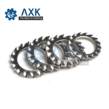 100Pcs DIN6798J M3 M4 M5 M6 M8 Stainless Steel 304 Washers Internal Toothed Gasket Washer Serrated Lock Washer Gasket Ring