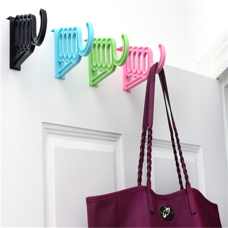 creative home practical multifunction plastic door bathroom wall bag hanger hook hat towel hanging rack for coat clothes holder - Creative Hat Racks