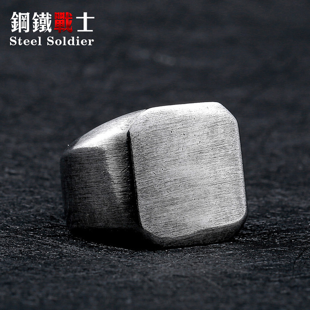 steel solider simple fashion vintage silver color men stainless steel ring hot s