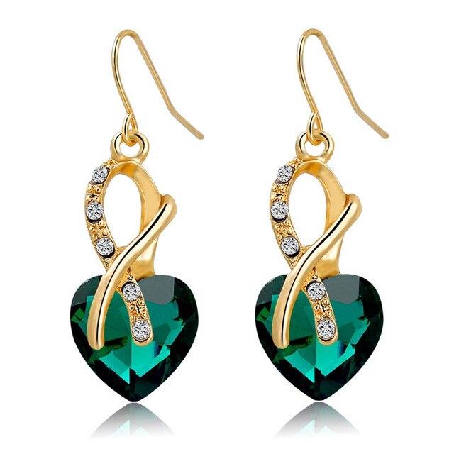 Chicvie синие серьги золотого цвета с камнями для женщин aaa