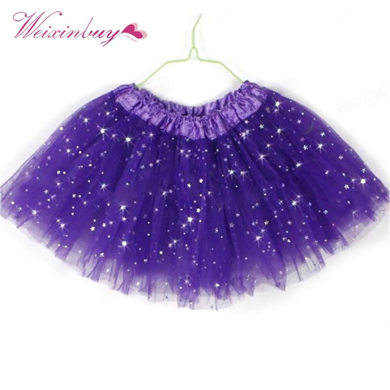 Baby Princess Tutu Skirt Girls Kids Party Ballet Dance Wear Pettiskirt Clothes 16 colors