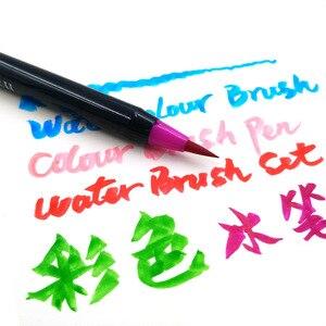 Image 5 - Novo 20 cores premium pintura caneta escova macia definir marcadores de aquarela caneta efeito melhor para colorir livros manga caligrafia comic