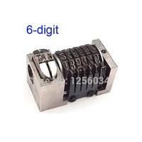 7 Pieces 6 Digit Number 51 Type Letterpress Printing Machine 6 Digit Numbering Machine Reverse Rotation
