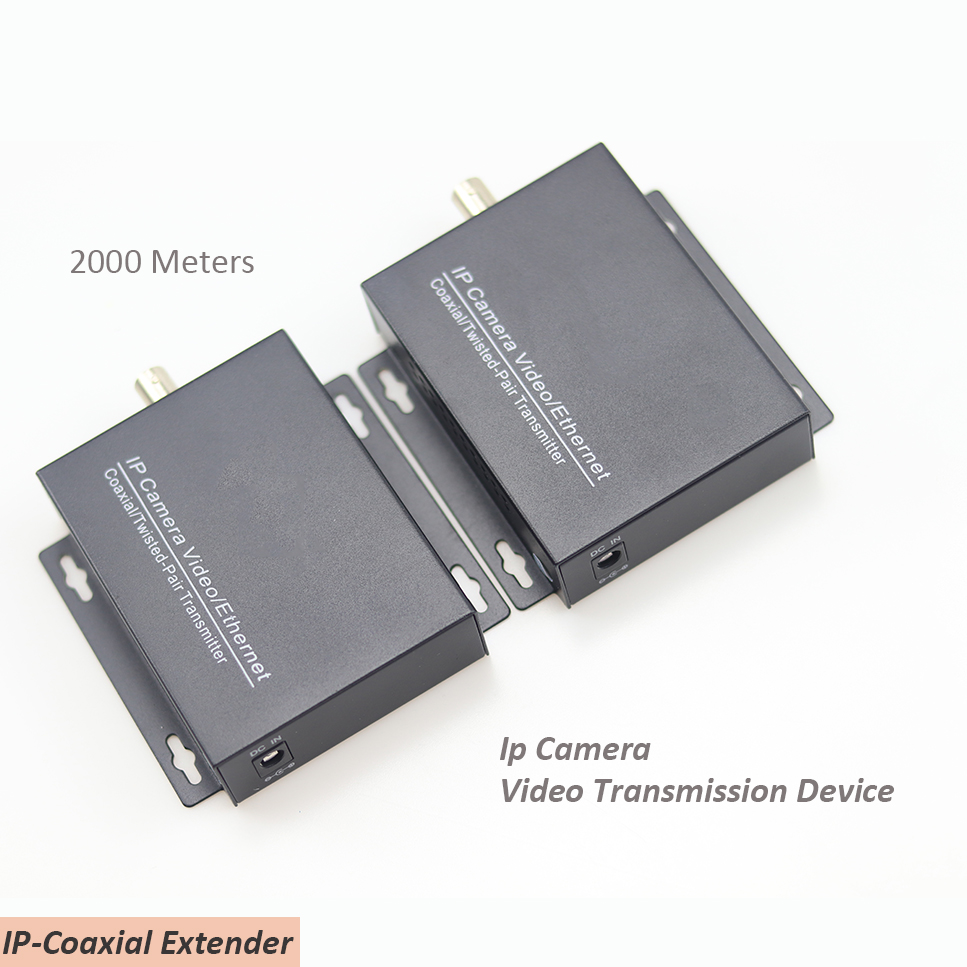 2km Ethernet Extender Over IP Coaxial Network extender 1080p video converter transmitter receiver support HIKVISION Dahua