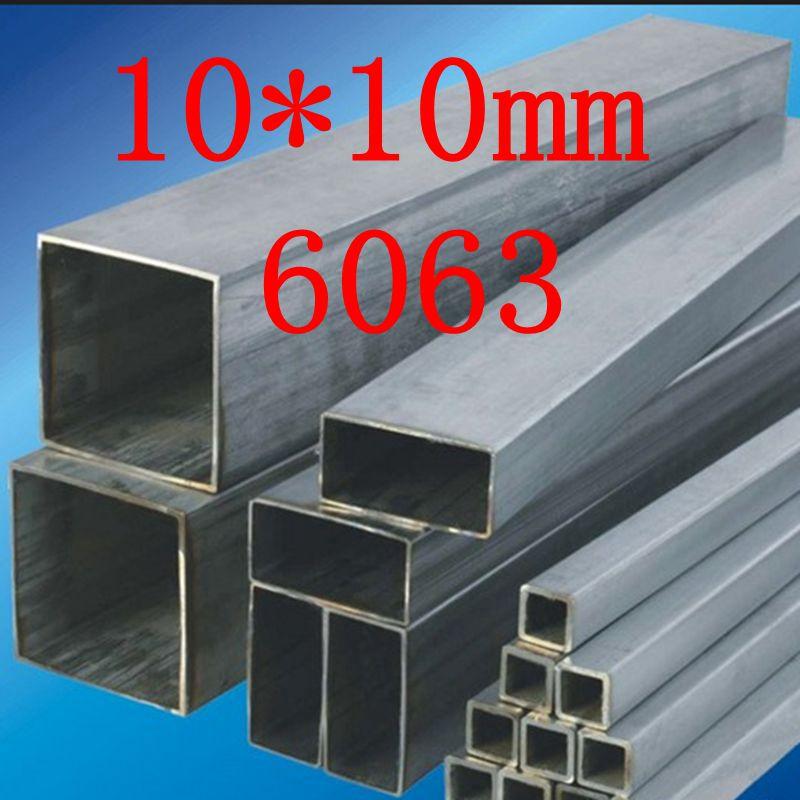 10X10mm 6063 Square Metal/Aluminium Tube/Pipe