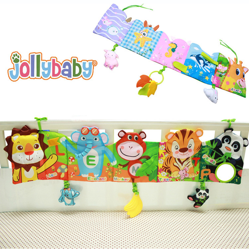 Cute Baby Bell Hand Grasp Educational Toys Infant Bed Hanging Toy Plush Doll PA