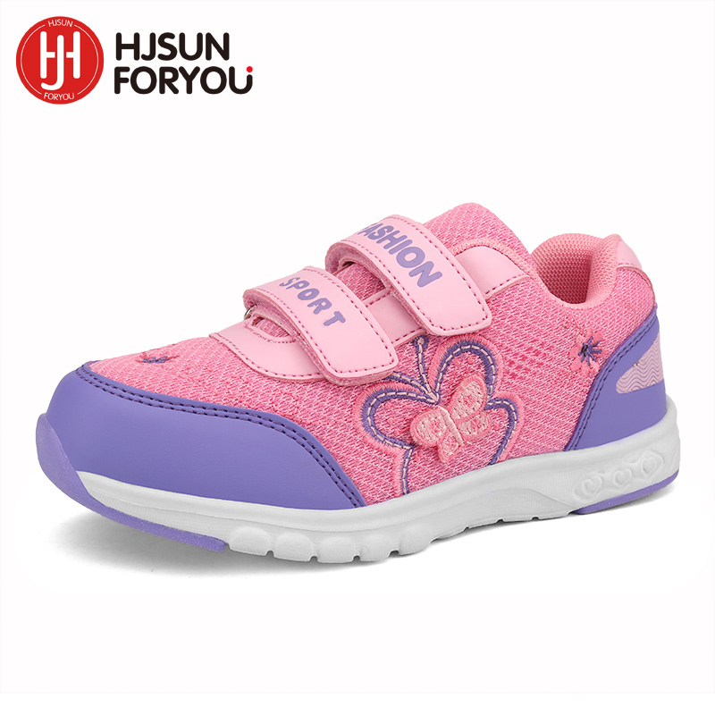 2019 Barn Fritidskor Flickor Broderi Mönster Skor Barn Mode Sneakers Boys Casual Sport Shoes Child Butterfly Shoes