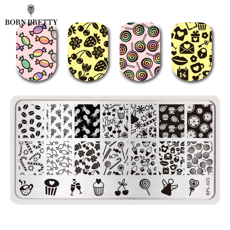 Biutee 5pcs New Flower Leaves Forest Image Plates Nail Stamping Plates Clear Jelly Silicone Nail Art Stamper Scraper With Cap Traveling Beauty & Health Nail Art Templates