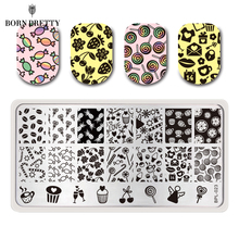 Cute Candy Nail Art Stamp Template Image Plate Nail Stamping Plate Stamp Tools BORN PRETTY BP