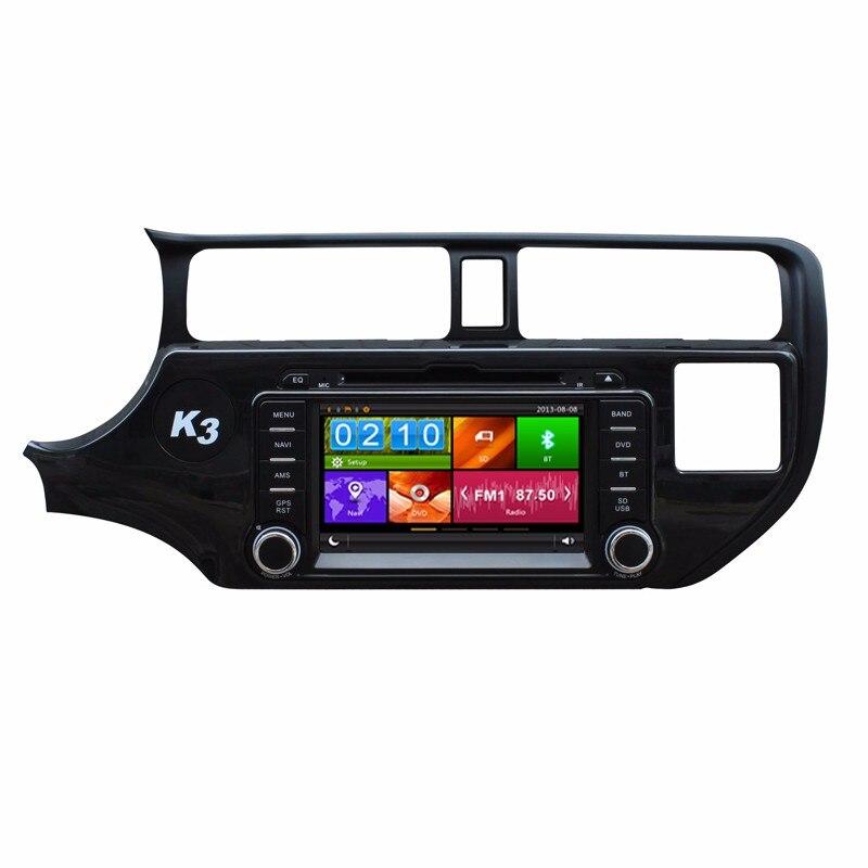 Авторадио автомобильный DVD GPS навигации для Kia Rio K3 Pride 2012 2013 2014 рулевое управление в аудио-видео IPOD USB