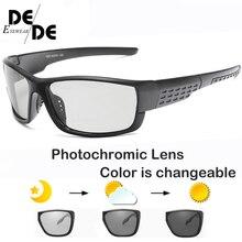 Driving Polarized Square Photochromic Sunglasses Men Chameleon Glasses Driver Goggles UV400 Fishing Sunglases B1020