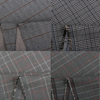 1.6m*1m,Striped four sided Stretch Knitted Lycra Cotton Fabric Cloth for Pants Suits Dresses F26.