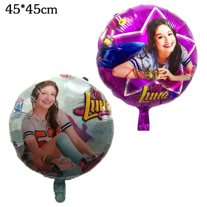 18 дюймов соевый Luna девушка Фольга шары для маленьких девочек День рождения принцесса  ...