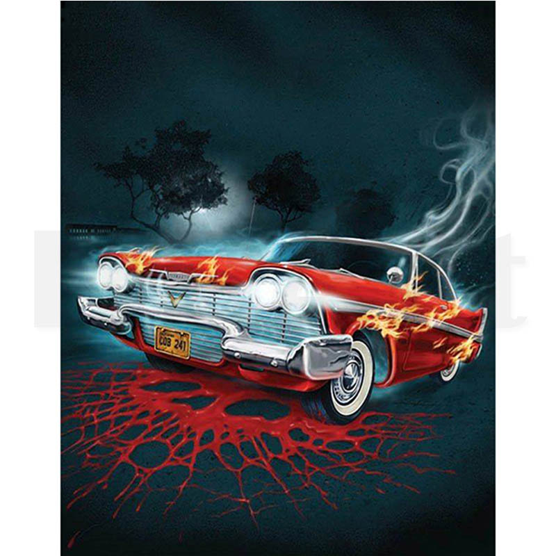5D DIY Diamond Painting Flame car Cross Stitch Full Drill Round Diamond Embroidery Cartoon Auto Mosaic Pictures Home Decor FG841