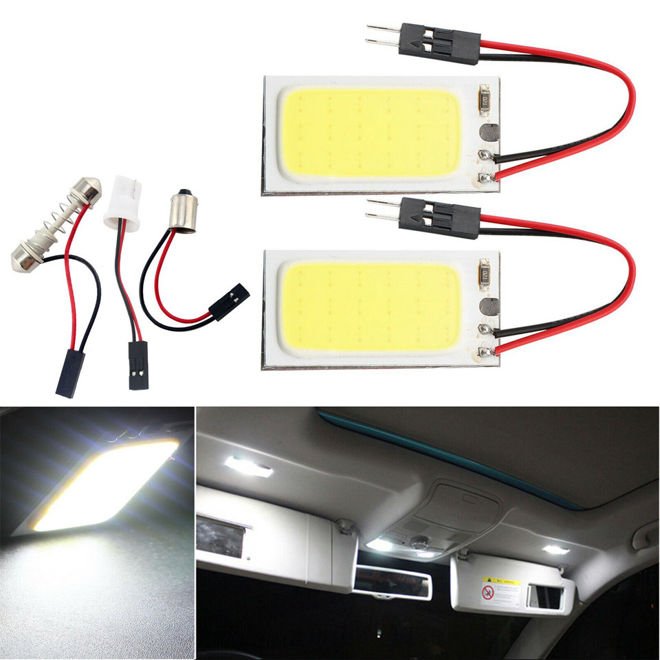 2x LED Bulb 39mm Festoon Canbus White 6x 5050 SMD To Fit Number Plate Audi A5