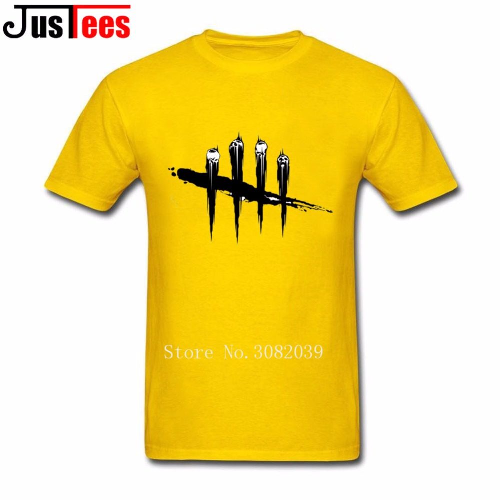 dead by daylight T Shirt Men Mans Homme Short Sleeve Crewneck Cotton Big Size Cryptocurrency T Shirts