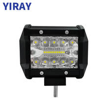 YIRAY 4 inch 60W 6000LM Led Work Light Car Driving Lamp for Motorcycle Tractor Boat Off Road 4WD 4x4 Truck SUV ATV цена и фото