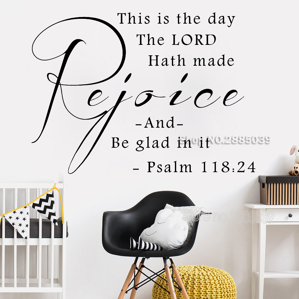 This Is The Day Psalm 118 24 Vinyl Wall Decals Christian