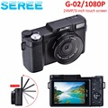 Seree 24MP HD Half-DSLR Professional Digital Cameras with 4x Telephoto,Fisheye & Wide Angle Lens Cameras Macro HD Cameras