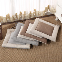 Simple Linen Cushion Square Office Of Student Summer Air Cushion Thick Tatami Futon Cushion Windows