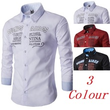 ZOGAA Brand New 2019 Fashion Male Shirt Casual Cotton Long-Sleeves Tops Letter Print Men Dress Shirts Slim
