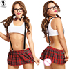 2016 New Arrived SM Cosplay Uniform Sexy Lingerie Hot Solid Vest England Small Skirt Lingerie Set