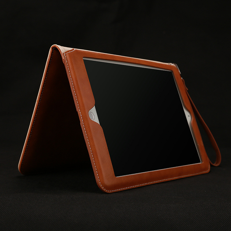GrassRoot Retro Briefcase Hand Belt Holder Leather Case For Apple ipad pro 9.7 10.5 Auto Wake Up Sleep Stand Flip Bags Cover case for funda ipad pro 12 9 luxury business leather case tablet 12 9 inch wake up hand belt holder stand flip bags alabasta