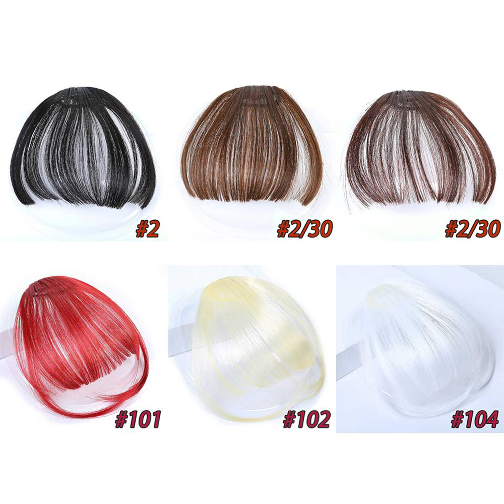 HiDoLA Synthetic hair flat bottom breathable tassel high temperature fiber adult lady wig bangs headwear in Women 39 s Hair Accessories from Apparel Accessories