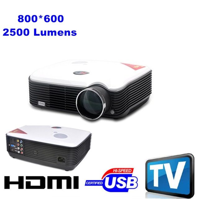 Digital 2500 lúmenes LED 1080 P HDMI proyector Full HD para cine en casa HDMI USB SD VGA AV