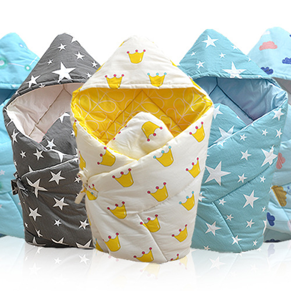 Soft Cotton Infant Swaddle Plush Bebe Envelope Stroller Wrap for Newborns Baby Bedding Blanket Toddler <font><b>Sleeping</b></font> Bag Sleepsack