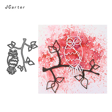 JC Metal Cutting Dies for Scrapbooking Owl Branch Leaves 2019 Die Cut Craft Stencil Handmade Paper Card Making Model Decor