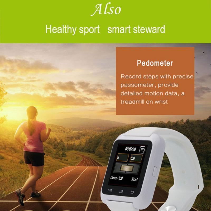 Zegarek na rękę Zegarek na rękę Bluetooth U80 na iPhone'a IOS - Męskie zegarki - Zdjęcie 2